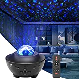 Star Light Projector, Liwarace Galaxy Light Projector with Ocean Wave,Music Bluetooth Speaker,Remote Control,Adjustable Brightness, Night Light Projector for Girls Bedroom Home Theatre