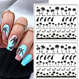 2Sheets Tropical Style Coconut Tree Transfer Paper Palm Tree Design Nail...
