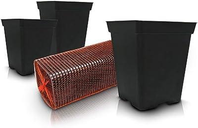 Pflanzwerk® Maceta Cube Antracita 23x23x23cm *Resistente a ...