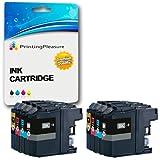 8 XL Compatibili LC-12E Cartucce d'inchiostro per Brother MFC-J6925DW - Nero/Ciano/Magenta/Giallo, Alta Capacità