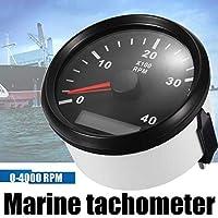 YASE-king 12/24V 0-4000ボートRPM 85M海洋ボートタコメータゲージLCDメータータコターミーボートRPMホワイトブラック