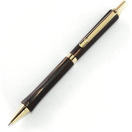 日本の職人が丹精込めて屋久杉から削り出し、漆塗りを施した【天然抗菌の漆シャーペン】(黒漆ゴールド, 0.7・木製ペン)