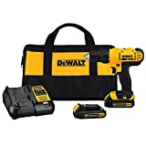 Dewalt drill has compact and lightweight design that fits into tight areas High performance motor of the power drill delivers 300 unit watts out (UWO) of power ability completing a wide range of applications High speed transmission of Dewalt 20V dril...
