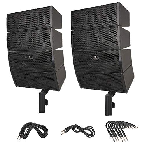 PRORECK Club 3000A 4X4 Passive Line Array Speaker System Sets Eight Tweeter and Eight mid-tweeters