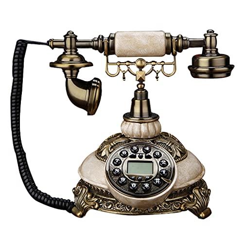 Teléfono Retro Americano Fijo Fijo hogar Europeo Creativo Antiguo Giratorio Europeo Antiguo teléfono