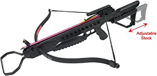 175 lb Black/Vista Camouflage Hunting Crossbow Archery Bow +8 Arrows +Rail Lube +Stringer +Rope Cocking Device 150 lbs