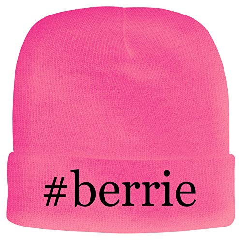 BH Cool Designs #Berrie - Men's Hashtag Soft & Comfortable Beanie Hat Cap, Pink, One Size