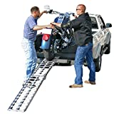 Black Widow AF-9012-HD Deluxe Folding Single Runner Motorcycle Ramp - Plate-Style Lip, 1,500