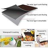 ZERHOK Kochschürze Küchenschürze Grillschürze Latzschürze Verstellbarem Nackenband Schwarz mit Kochmütze Set Für Männer Frau Herren - 7