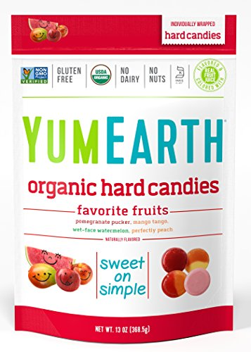 YumEarth Organic Candy Drops Freshest Fruit 13 Ounce Bag Pack of 4 Packaging May Vary