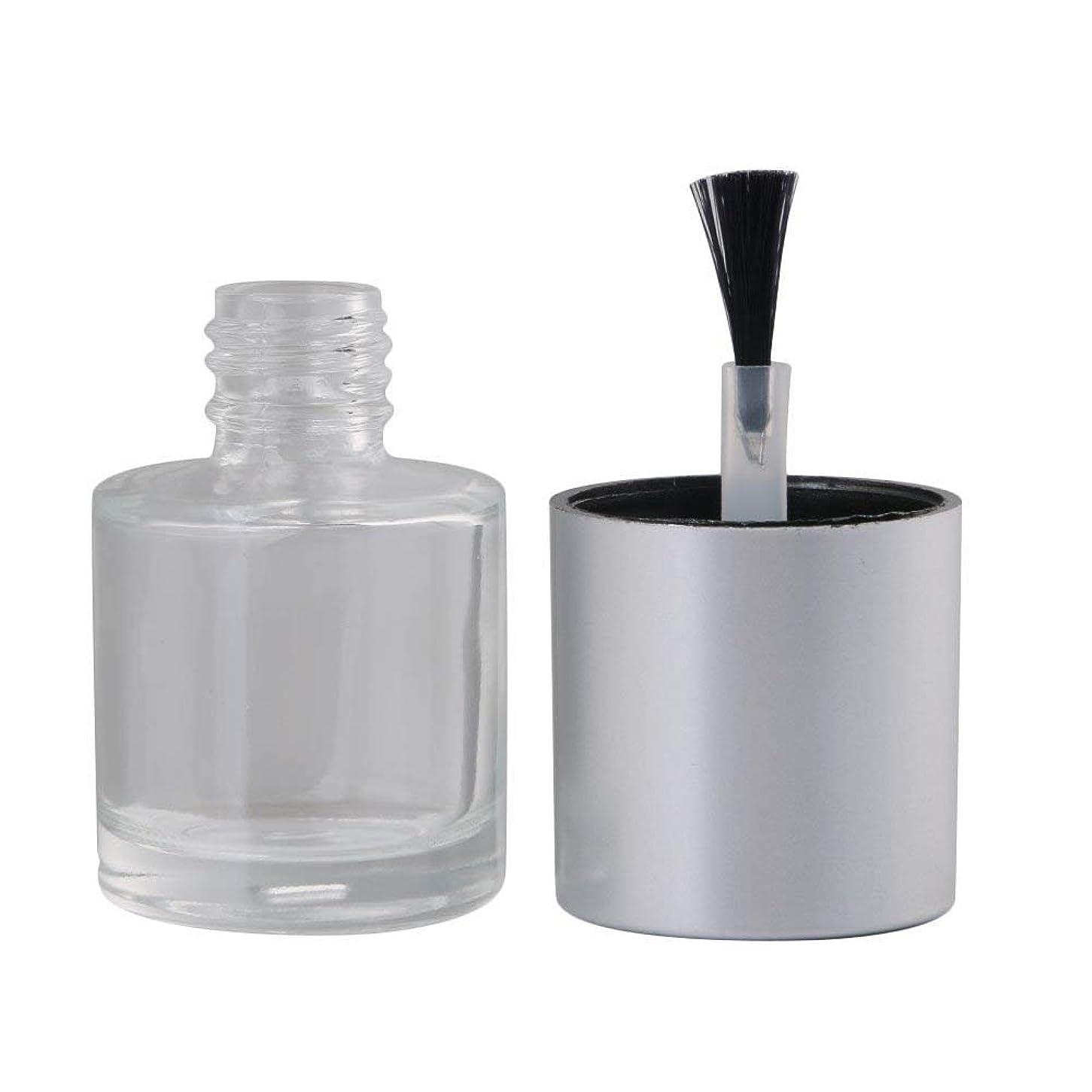 我慢する農業著作権Diystyle 10個入 マニキュアボトル 空ボトル 10ml 小分けボトル 詰め替え 化粧品収納 旅行用品 ガラス グレー