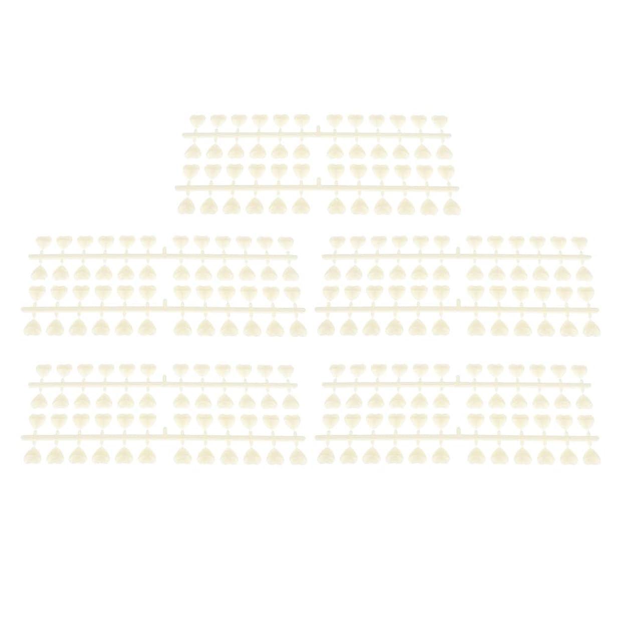 マリン懲らしめテクスチャーB Blesiya 10枚 ネイルアートチップ カラーカード ネイルヒント ネイルポーランド ネイルサロン 3タイプ選べ - ハートシェイプ