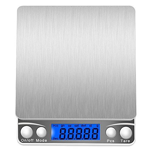 Bilancia digitale, (500g / 0.01g) di alta precisione Pocket Scale alimentari, bilance gioielli, multifunzionali Pro Bilancia con display LCD retroilluminato.