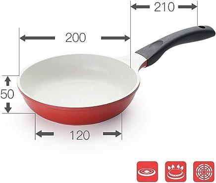 PanHe Sartenes para saltear Sartén Antiadherente de cerámica Sartén Antiadherente Sartén para bistecs 20/24
