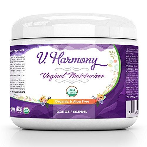 Bloom Krans Vaginal Moisturizer (1 Pack) - Vulva Balm - USDA Organic Aloe Free and Natural Intimate Skin Cream - Help Reduce Vaginal Dryness and Itching - Estrogen Free Treatment - V. Harmony