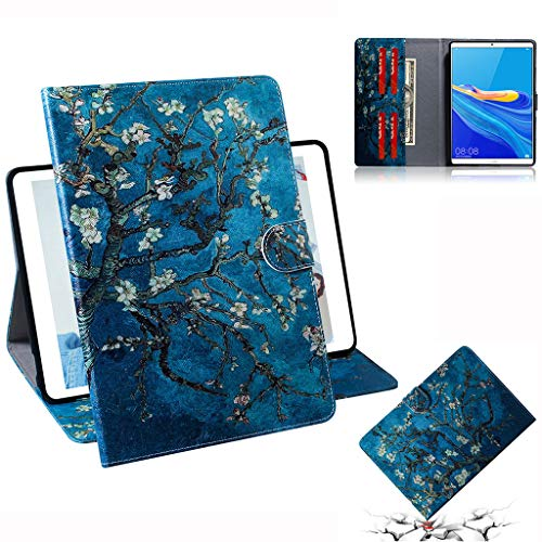 Careynoce Huawei M6 Hoes, Geschilderd Patroon PU Lederen Boek Flip Met Magnetische Gesp Tablet Case Beschermende Cover voor Huawei MediaPad M6 10.8 inch met Auto Sleep/Wake Functie, CH-04, MediaPad M6 8.4