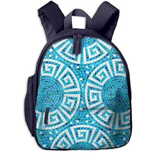 Kinderrucksack Kleinkind Jungen Mädchen Kindergartentasche Pool Mosaic Ceramic Geometric Backpack Schultasche Rucksack