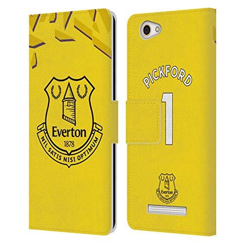 Head Case Designs Offizielle Everton Football Club Jordan Pickford 2019/20 Spieler Home KIT Gruppe 1 Leder Brieftaschen Huelle kompatibel mit Wileyfox Spark X