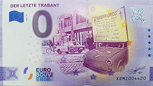 0-Euro-Schein Der letzte Trabant Deutschland Souvenir-Schein Null Euro € Sammler (2020-10)