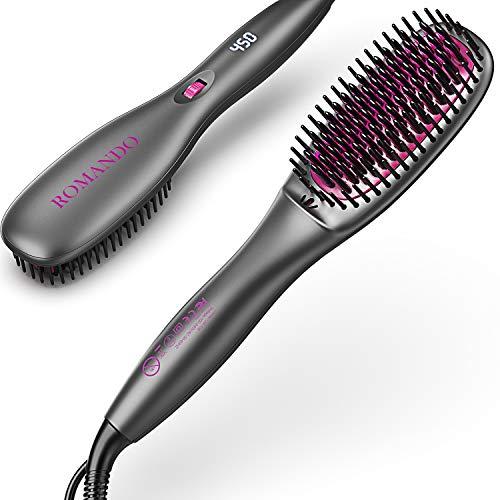 Cepillo Alisador, ROMANDO Cepillo Alisador de Pelo, Cepillo alisador de cabello Profesionales