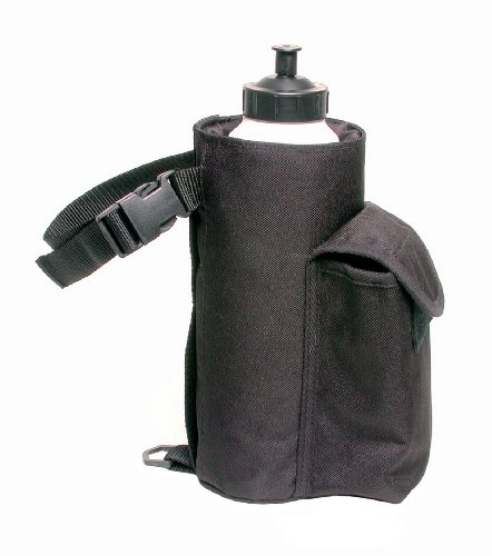 Tough 1 Water Bottle/Cell Phone Combo Pouch, Black , 9.5'