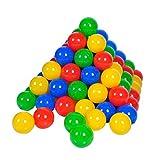 Knorrtoys 56789 - 100 Bälle in knalligem Blau, Rot, Gelb und Grün ohne gefährliche Weichmacher...