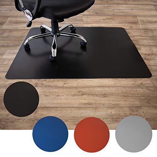 Floordirekt Bodenschutzmatte für Hartböden | aus Polypropylen| Buerostuhlunterlage | Stuhlunterlage | Schutzmatte | Hartboden | BUNT | 3 Größen (120 x 150 cm, Schwarz)