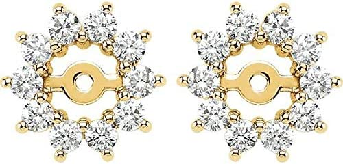 14K Yellow Max 73% OFF Gold 5 8 CTW Max 50% OFF Diamond Jackets Ha ID with Earring 3.7mm