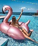 Lady of Luck Inflable Gigante De Flamencos , Flotador Colchoneta para Piscina Los Adultos Pueden Jugar En La Playa con Pileta Disfrute Agradables Vacaciones