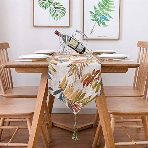 ZXL Bed vlag Amerikaanse stijl blad jacquard stof tafel decoratie TV kast deksel handdoek salontafel TV kast cover doek, 30 * 180CM