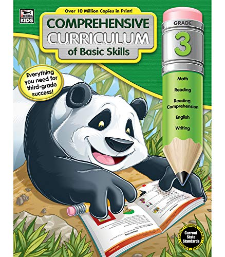 Comprehensive Curriculum of Basic Skills Fourth Grade Workbook—State Standards Lesson Plan and Activity Book for Math, Reading Comprehension, Writing (544 pgs)