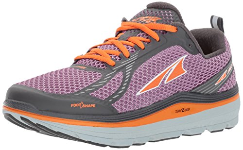 ALTRA Women's Paradigm 3 Running Shoe, Purple/Orange, 7 B US
