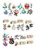Lot de 31décorations Alice aux pays des merveilles en papier comestible...
