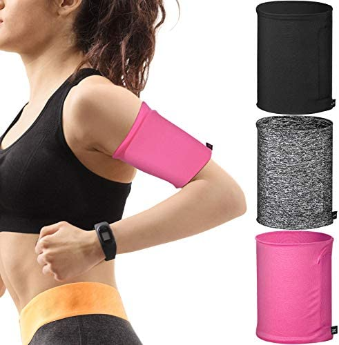 3 Pieces Phone Armband Sleeves Running Sports Armbands Phone Arm Band Holder for Running Walking product image