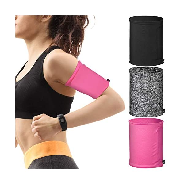 3 Pieces Phone Armband Sleeves Running Sports Armbands Phone Arm Band Holder for...