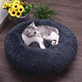 JCT Dog Bed Soft Cat Bed 50cm Plush Cat Calming Bed Fluffy...