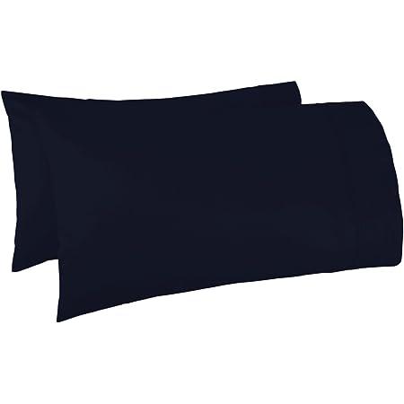 100/% Egyptian long-staple cotton deep blue pillowcase 2 piece pillow case