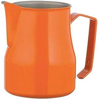 Motta 2635 Stainless Steel Professional Milk Pitcher, 11.8 fl. oz, Orange