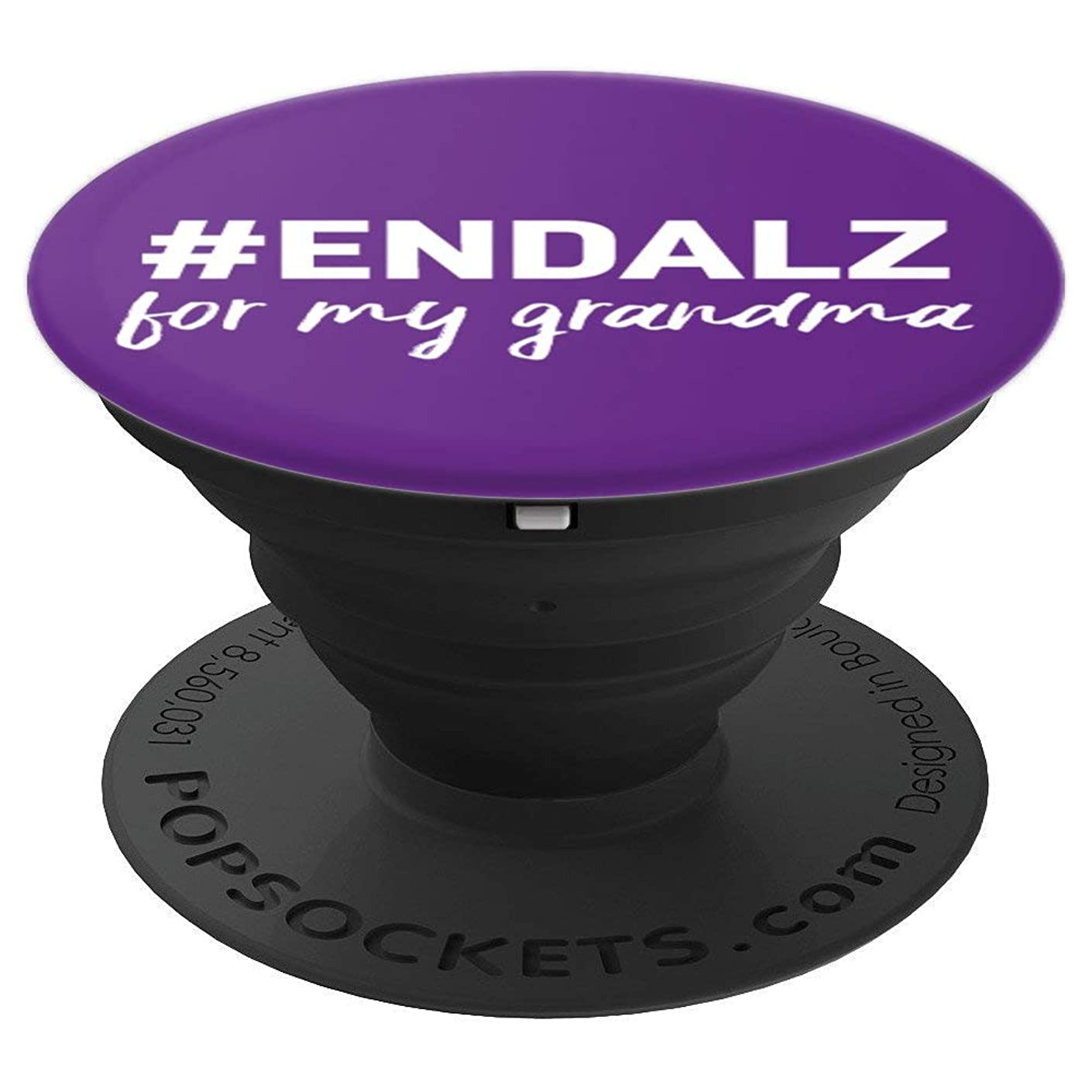 Alzheimer's Awareness Products Purple #ENDALZ End ALZ Gift - PopSockets Grip and Stand for Phones and Tablets