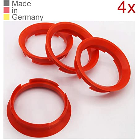 Konikon 4x Zentrierringe 63 4 X 57 10 Mm Rot Felgen Ringe Radnaben Zentrierring Adapterring Ring Felgenring Distanzring Made In Germany Auto