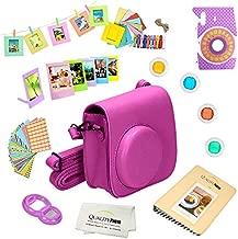 Quality Photo Instant Camera 12-Piece Accessories Kit Bundle for Fujifilm Instax Mini 8 & Mini 9 Camera Includes; Case W/Strap, Lens Filters, Photo Album & Frames + More (Purple)