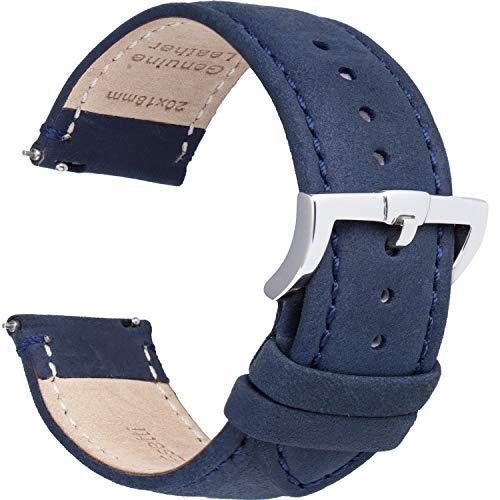Leder Uhrenarmbänder Schnellverschluss Uhrenarmband - Top Grain Ölrindsleder Armband ersetzen für Herren & Damen, Uhren & SmarteUhren - Mehrere Farben 16mm 18mm 19mm 20mm 22mm