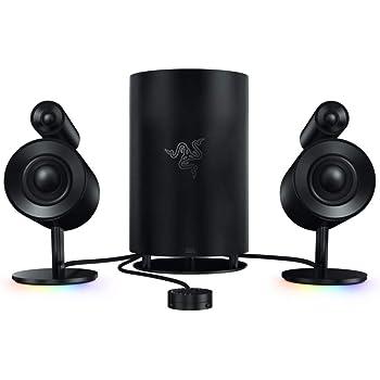 Razer Nommo Pro: Gaming Speakers - THX Certified Premium Audio - Dolby Virtual Surround Sound - LED Illuminated Control Pod - Downward Firing Subwoofer - Powered by Razer Chroma