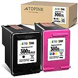 ATOPINK - Cartucho de tinta remanufacturado para HP 300 300XL para HP DeskJet D1620 D2530 D2645 F2410 F4210 F4400 F4500 Envy 100 110 120 D410a PhotoSmart C4600 C470 0 D11. 0A (Color Negro)
