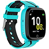 Kids Smart Watch with GPS Tracker Waterproof GPS Tracker Watch for Children Girls Boys with SOS Call Camera Touch Screen Game Alarm for Kids Boys and Girls (Blue)