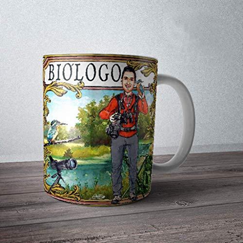 Taza de biólogo-naturalista. Un regalo original y simpático para un biólogo.