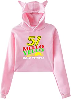 Sweatshirts 51 Mello Yello Cole Trickle Womens Crop Top Hoodies