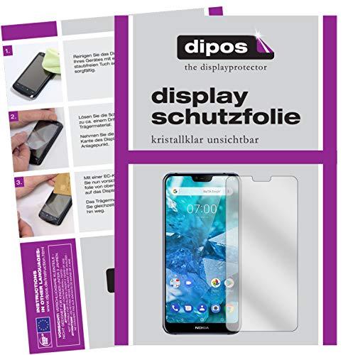 dipos I 6X Pellicola Protettiva Compatibile con Nokia 7.1 Plus Pellicola di Protezione Cristallo