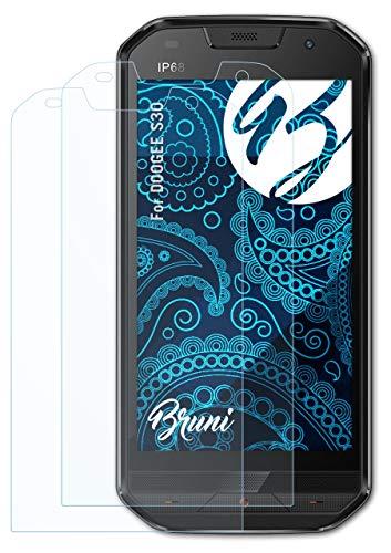 Bruni Schutzfolie kompatibel mit DOOGEE S30 Folie, glasklare Bildschirmschutzfolie (2X)