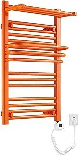 Cxjff Toallero eléctrico calefactado Temporizador Inteligente Toallero Calefactor Radiador Trapezoidal for baño Cocina for el hogar (Color : Orange)